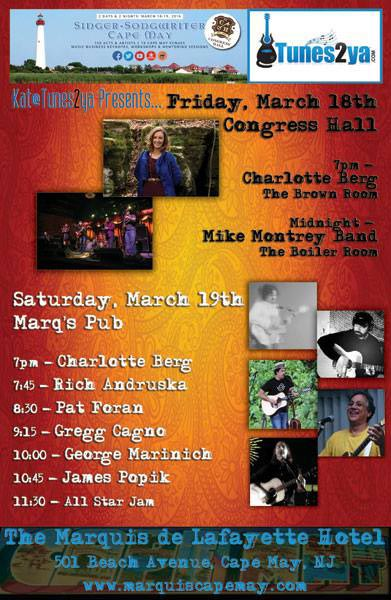 Tunes2Ya Holds Showcase At 2016 Singer-Songwriter of Cape May Conference