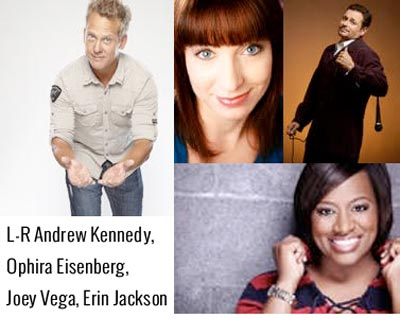 Big Apple Comedy Brings Andrew Kennedy, Erin Jackson, Ophira Eisenberg, Joey Vega to Newton Theatre