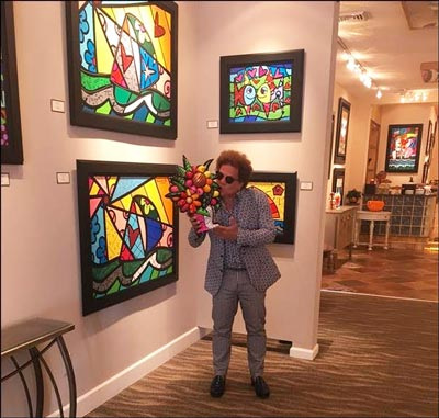 Romero Britto Makes First South Jersey Appearance At Ocean Galleries