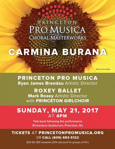 "Music, Dance and Collaboration Brings ""Carmina Burana"" to Life in Princeton"