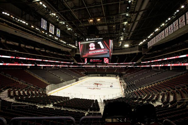 low priced 2a937 d9b9f Prudential Center Debuts Largest Scoreboard In the World ...