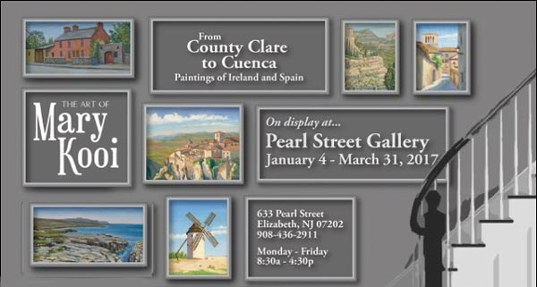 "Mary Kooi's ""From County Clare To Cuenca"" On Display At Pearl Street Gallery"