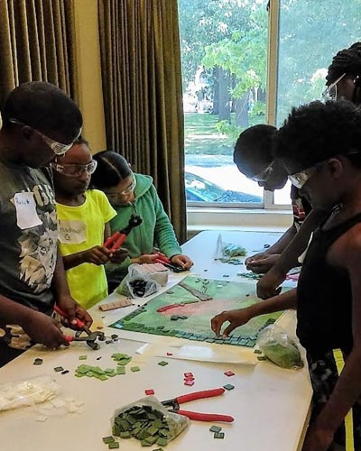 Young Artists Create Mosaics to Beautify PSE&G Switching Station