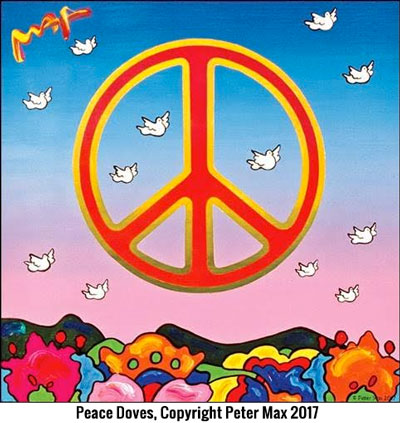 """Peter Max returns to Stone Harbor in celebration of the Fourth of July and 50th anniversary of the """"Summer of Love"""""""