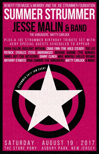 Jesse Malin Heads All-Star Cast For Summer Strummer at Stone Pony