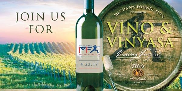 Meghan's Foundation's First Annual Vino & Vinyasa At Crossing Vineyards