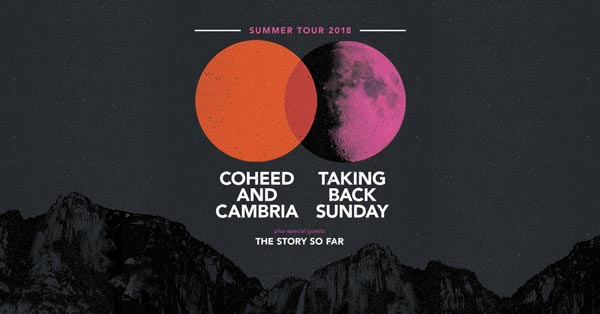 Coheed and Cambria with Taking Back Sunday on Summer Amphitheater Tour