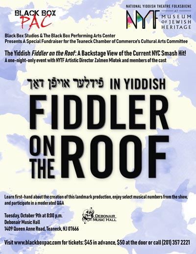 Fiddler On The Roof in Yiddish Comes to Teaneck