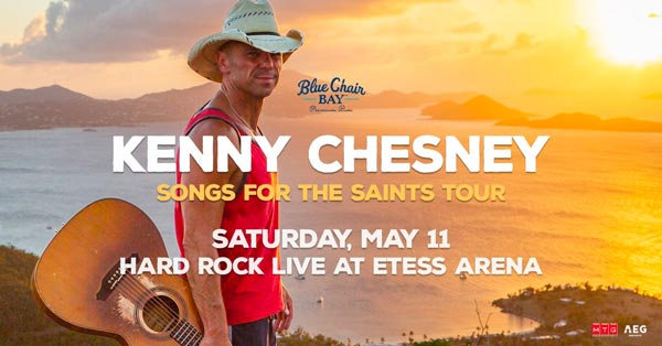 Kenny Chesney To Perform At Hard Rock Hotel & Casino