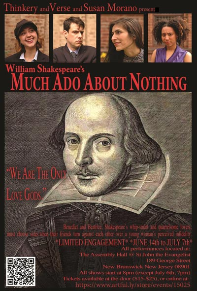 "Thinkery & Verse Presents Shakespeare's ""Much Ado About Nothing"""