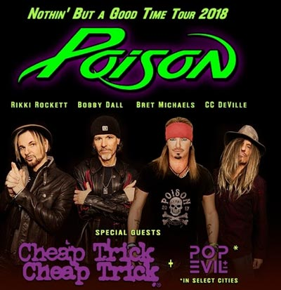 Poison and Cheap Trick To Perform At PNC Bank Arts Center In Holmdel