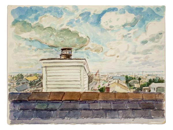"""Rider University Art Gallery presents """"Harry I. Naar: Watercolors: Observed and Imagined"""""""