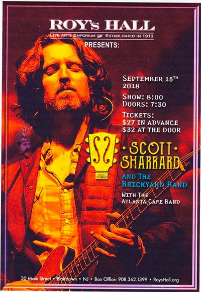Recap: Scott Sharrard with special guests The Atlanta Cafe Band at Roy's Hall
