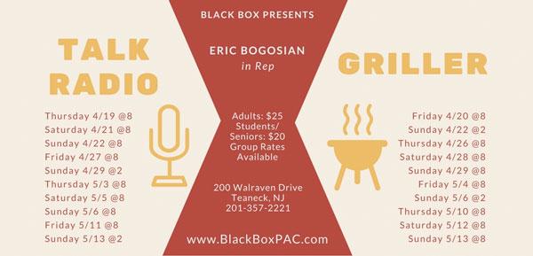 Black Box Studios To Present Talk Radio and Griller by Eric Bogosian