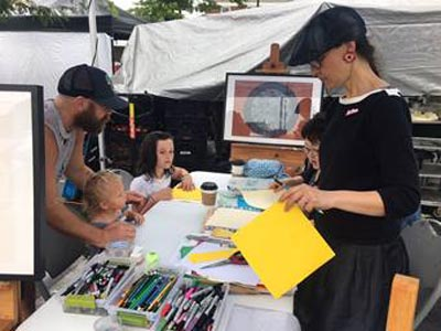 Visual Arts Center of New Jersey  Returns to the Summit Farmers Market in August