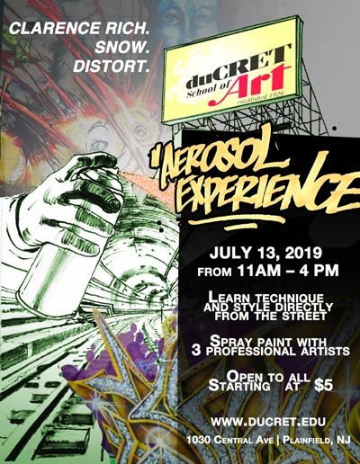 duCret School of the Arts Presents The Aerosol Experience Festival