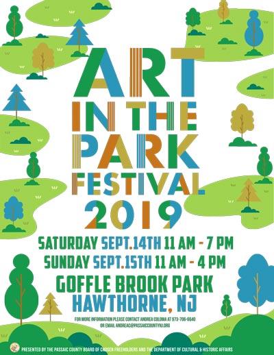 Passaic County Hosts 2019 Art In The Park Festival September 14-15
