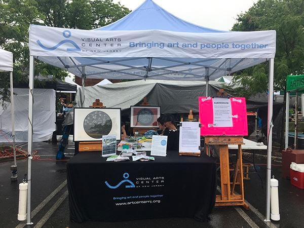 Visual Arts Center of New Jersey at the Summit Farmers Market on July 7th