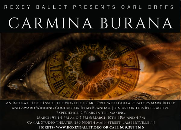 "Roxey Ballet hosts an interactive evening around Carl Orff's ""Carmina Burana"""