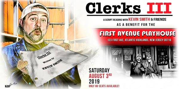 """Kevin Smith To Hold Benefit Reading of """"Clerks 3"""" for First Avenue Playhouse"""