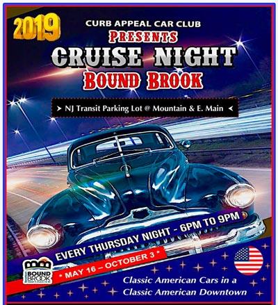 "Bound Brook Kicks Off ""Car Cruise Nights On Main Street"" On May 16"