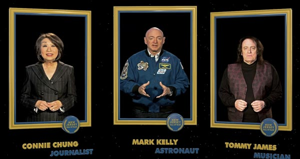 Holograms Bring New Jersey Hall of Fame Members To Life At Newark Airport Installation