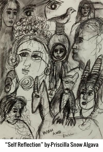 """""""Self Reflection"""" by-Priscilla Snow Algava"""