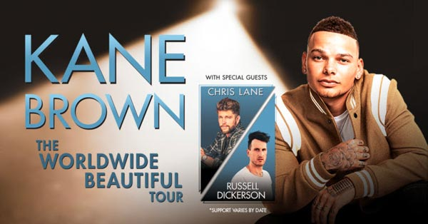 Kane Brown, Chris Lane and Russell Dickerson To Perform At Boardwalk Hall