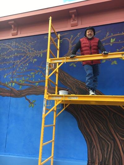 Arts Council of Princeton's Fall 2019 Artist-in-Residence Marlon Davila Creates New Mural at John Street and Leigh Avenue