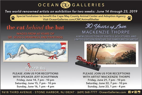 June Art Exhibits at Ocean Galleries To Raise Money for Cape May County Animal Shelter