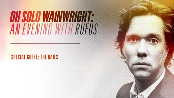 Rufus Wainwright To Perform at Grunin Center