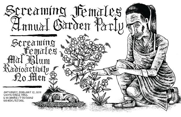 Screaming Females Present Annual Garden Party With Mal Blum, Radioactivity, and No Men At White Eagle Hall