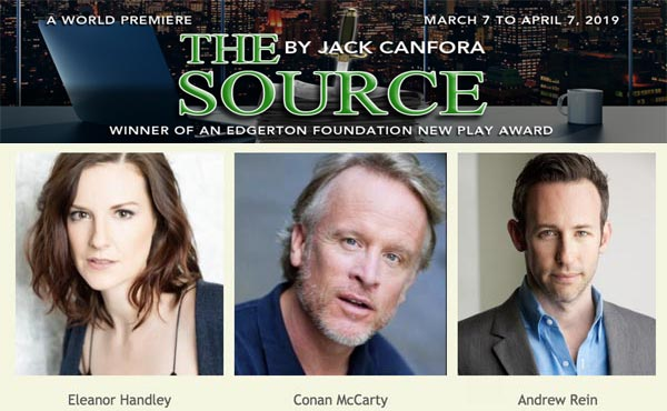 "NJ Rep To Present The World Premiere of ""The Source"" by Jack Canfora"