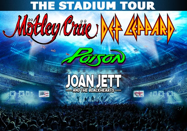 Def Leppard, Motley Crue, Poison, and Joan Jett & The Blackhearts On Stadium Tour