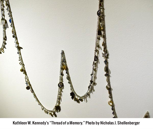 "Kathleen W. Kennedy's ""Thread of a Memory."" Photo by Nicholas J. Shellenberger"