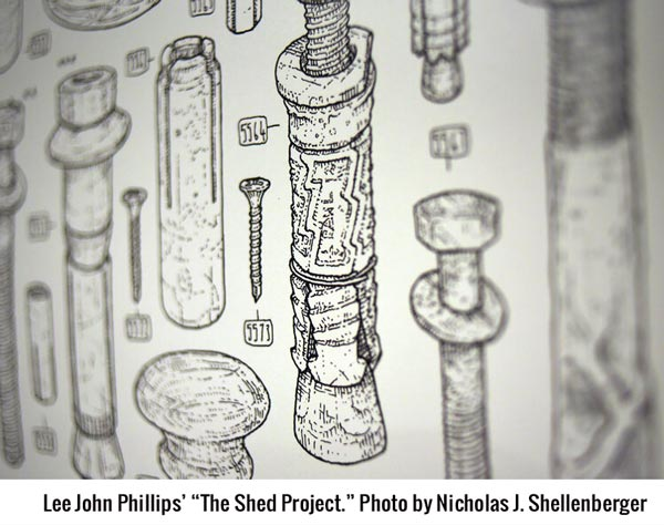 "Lee John Phillips' ""The Shed Project."" Photo by Nicholas J. Shellenberger"