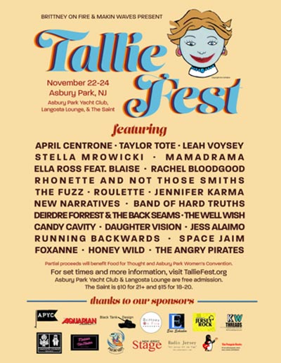 Makin Waves Scene Report with Tallie Fest, Mint 400 Records' Indie Binge, Asbury Lanes Diner and more