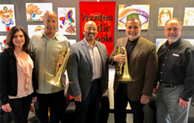 Trenton Public Schools Receive $100,000 Instrument Donation from Russo Music in Support of the District's Music Program