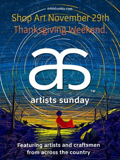 Artists and Organizations Across the United States Unite to Encourage Consumers to Shop with Artists and Craftsmen the Sunday after Thanksgiving