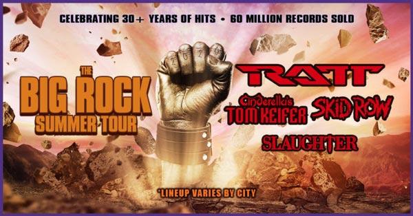 Ratt, Tom Keifer, Skid Row, and Slaughter Form The Big Rock Summer Tour