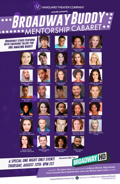 Fifth Annual Broadway Buddy Mentorship Cabaret To Air August 13th