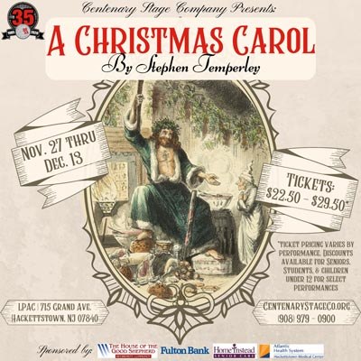 "Centenary Stage Company Presents ""A Christmas Carol"" With New Adaptation"
