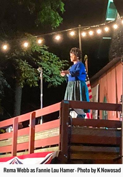"""""""Fannie Lou Hamer, Speak on It!"""" -- Audience are Cheering"""