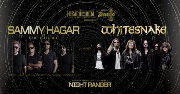 Sammy Hagar, Whitesnake, and Night Ranger To Perform In Camden and Holmdel