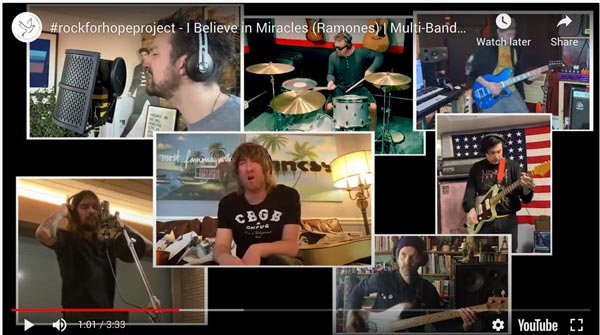 """Artists Take Part In Covering """"I Believe In Miracles"""" by The Ramones To Benefit Partners In Health"""