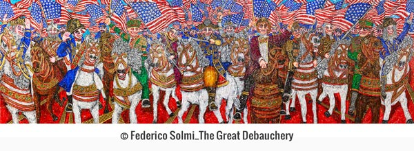"Blended Media, History, and More in ""Federico Solmi: The Bacchanalian Ones"""