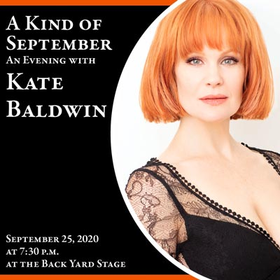 Broadway Luminary Kate Baldwin to Perform Live Outdoor Concert at The Shakespeare Theatre of New Jersey