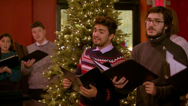 An Art School Quaranteam Keeps the Caroling Going at Kirkpatrick Chapel