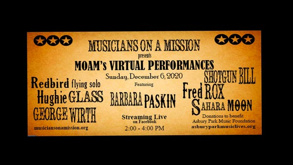 Musicians On A Mission Presents First Livestream Concert On December 6