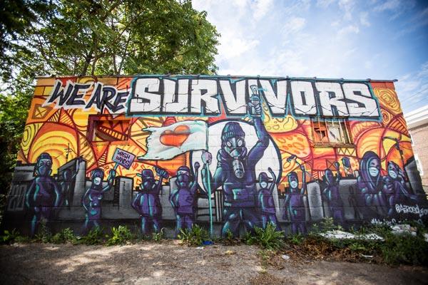 "Leon Rainbow's ""We Are Survivors"" Mural"